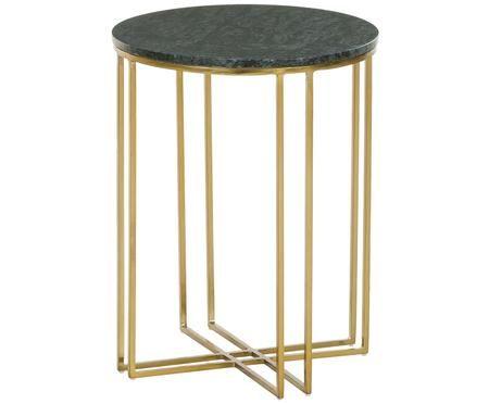 Tavolino rotondo con piano in marmo Joyce