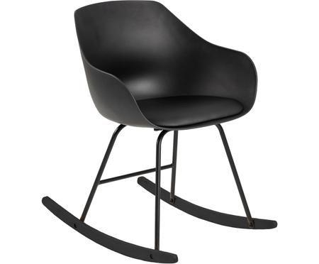 Kunstlederen schommelstoel Tina