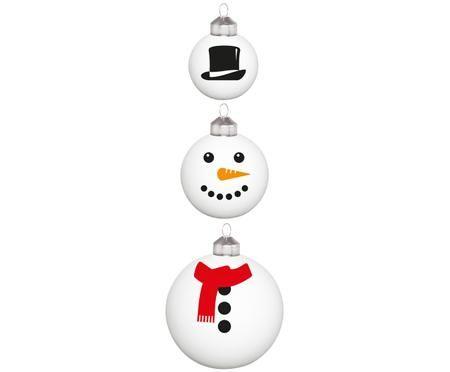 Weihnachtskugel-Set Frosty Snowman, 3-tlg.