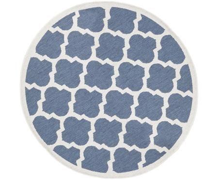 Okrągły dwustronny dywan wewnętrzny/zewnętrzny Palermo
