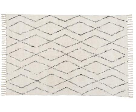 Waschbarer Teppich Berber mit Fransen, handgewebt