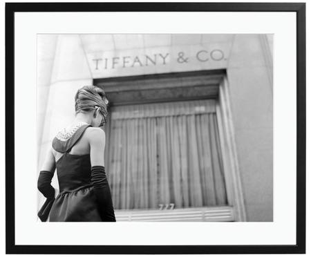 Ingelijste fotoprint Hepburn Breakfast at Tiffany's