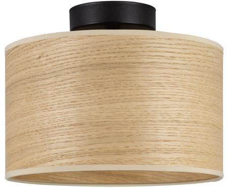 Plafondlamp Tsuri van eikenhout