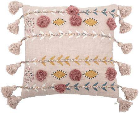 Coussin brodé avec houppes Arbutus
