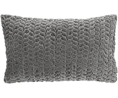 Samt-Kissen Smock mit geraffter Oberfläche, mit Inlett