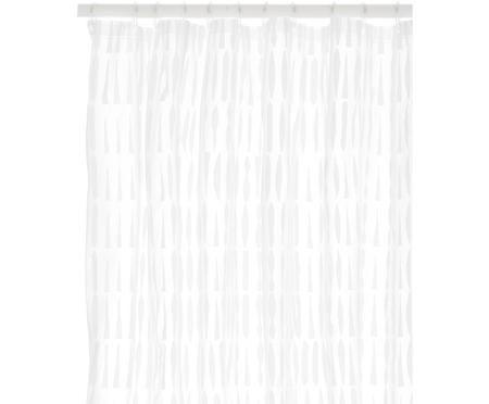Tenda da doccia trasparente/bianca Zora