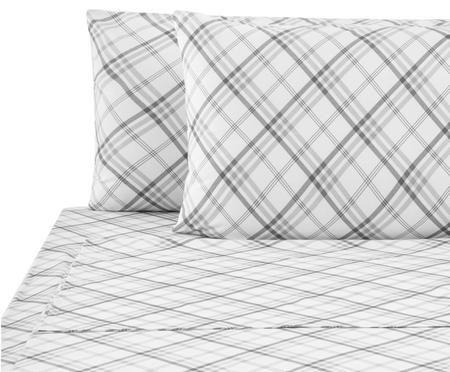 Completo letto renforcé Shon con lenzuolo, 4 pz.