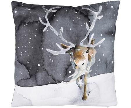 Kissen Rae mit winterlichem Motiv, mit Inlett