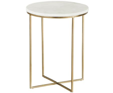 Tavolino rotondo con piano in marmo Alys