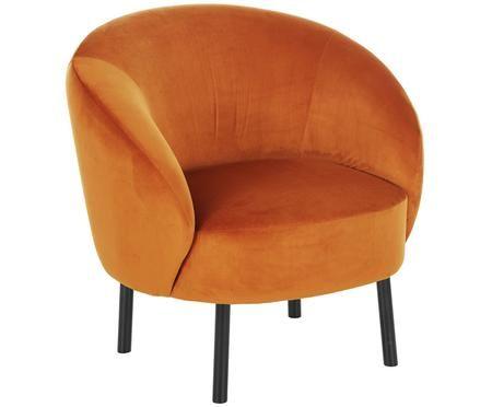 Fotel z aksamitu Freja