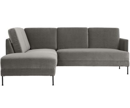 Canapé d'angle en velours Fluente