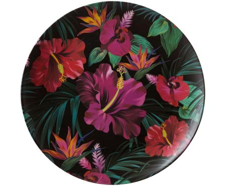 Assiette plate en bambou Tropical Flower