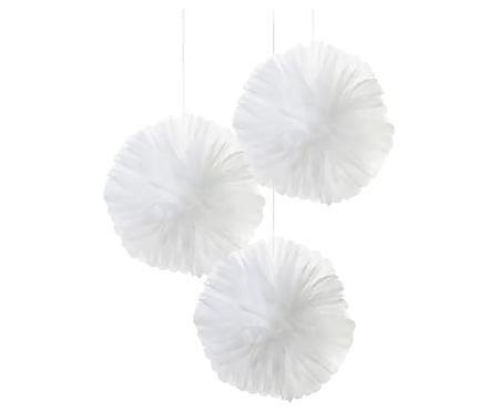 Pompones de papel We Heart, 3uds.