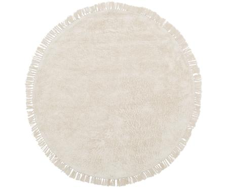 Tappeto rotondo in cotone Daya, trapuntato a mano