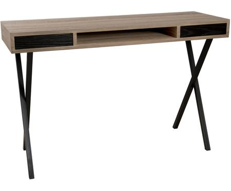 Úzký psací stůl se zásuvkami Julia