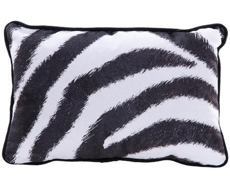 Samt-Kissen Zebra, mit Inlett
