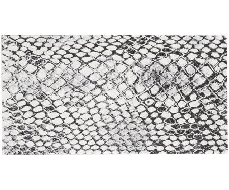 Tapis à imprimé serpent gris-blanc Snake