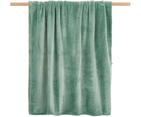 Weiches Fleece-Plaid Doudou in Mint