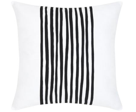 Kissenhülle Corey mit Streifen in Schwarz/Weiß