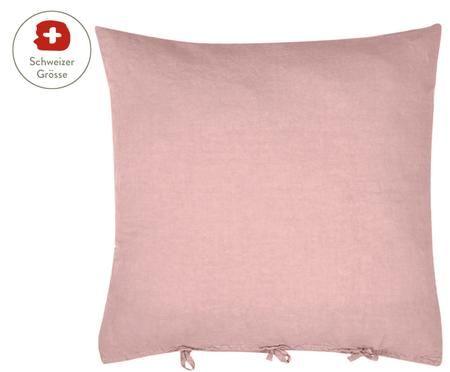 Gewaschene Leinen-Kissenbezug Maria mit Bändern