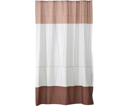 Tenda da doccia sottile Verdi in cotone misto