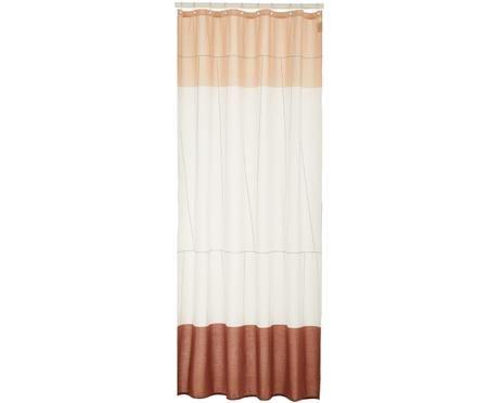 Tenda da doccia sottile in cotone misto Verdi