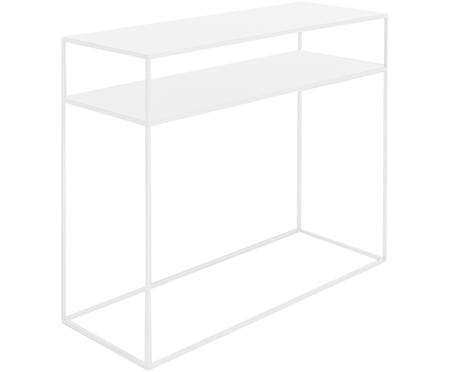 Metalen sidetable Tensio Duo in wit