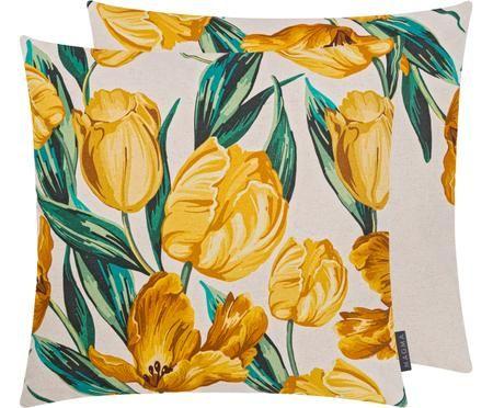 Wendekissenhülle Tulipa mit Tulpenprint