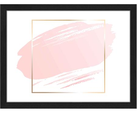 Gerahmter Digitaldruck Pink Brush