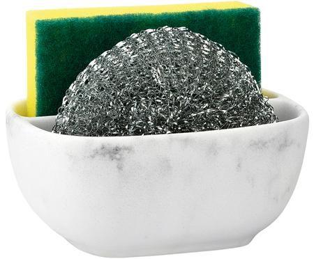 Uchwyt na gąbki z imitacji marmuru Galia, 3 elem.