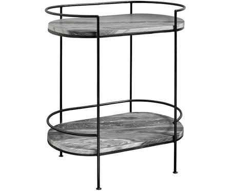 Table d'appoint en marbre Midnight
