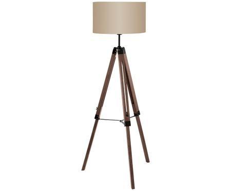 Lampada da terra Matilda in legno, regolabile in altezza