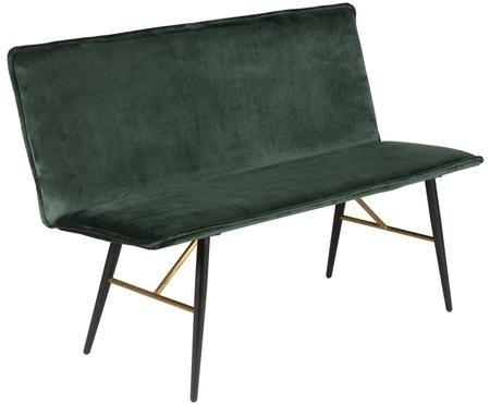 Moderne Samt-Sitzbank Verona mit Lehne