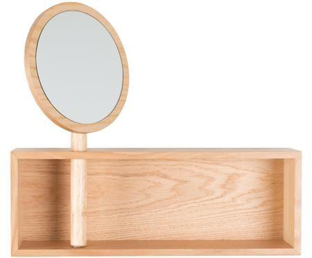 Nástenný regál s kozmetickým zrkadlom Kandy