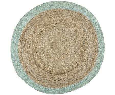 Ručně vyrobený kulatý koberec zjuty Shanta