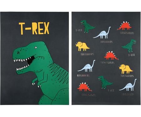Komplet plakatów Dinosaur, 2 elem.