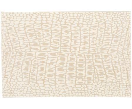 Teppich Croco mit Krokodil-Print in Beige