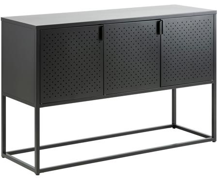 Metalen dressoir Newton in zwart