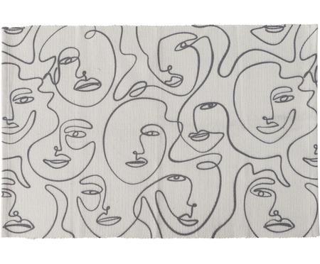 Teppich Picas mit abstrakter One Line Zeichnung
