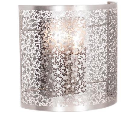 Mesh satin silver wall lamp