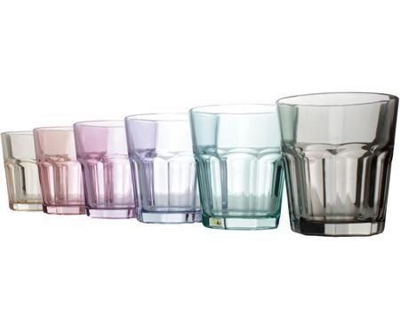 Ensemble de verres à eau multicolores Aras, 6 élém.