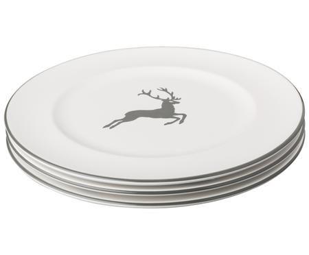 Assiette plate Cerf Gris Gourmet