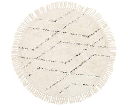 Alfombra artesanal redonda de algodón Bina
