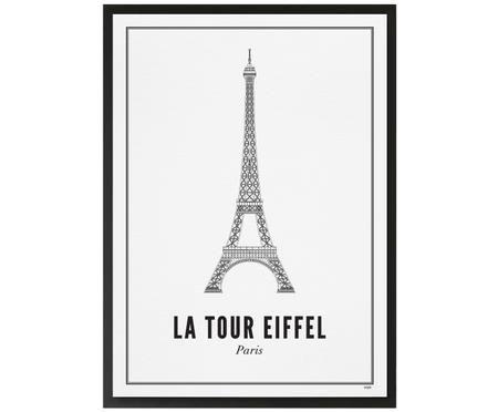 Ingelijste digitale print Paris Eiffeltoren