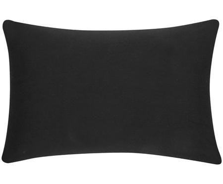 Housse de coussin en coton noir Mads