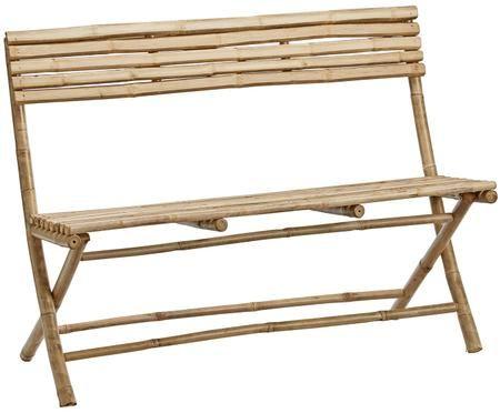 Garten-Sitzbank Mandisa aus Bambus