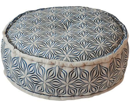 Okrągła poduszka podłogowa z lnu Martha