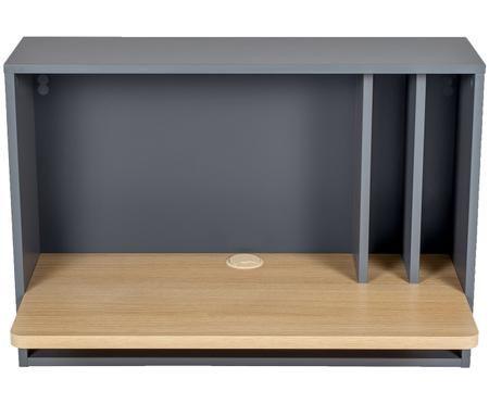 Nástěnný psací stůl s otvorem pro vedení kabeláže Minyard