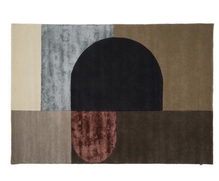 Handgetufteter Designteppich Vilja aus Wolle