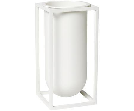 Handgefertigte Vase Kubus aus Aluminium